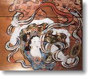 格天井:天女の舞・板壁画
